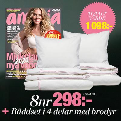 amelia 8 nummer med premie baddsatt 2020