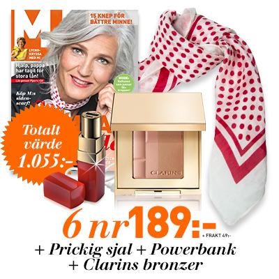 m magasis 6 nr prickig scarf powerbank och bronzer erbjudande 2020 2020