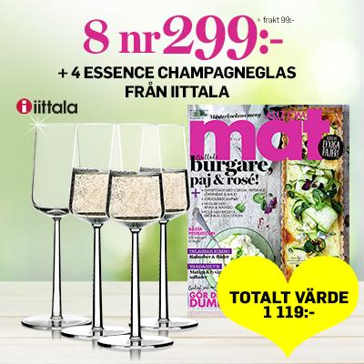 allt om mat 8 nr 299 kr 4 champagneglas essence 2020